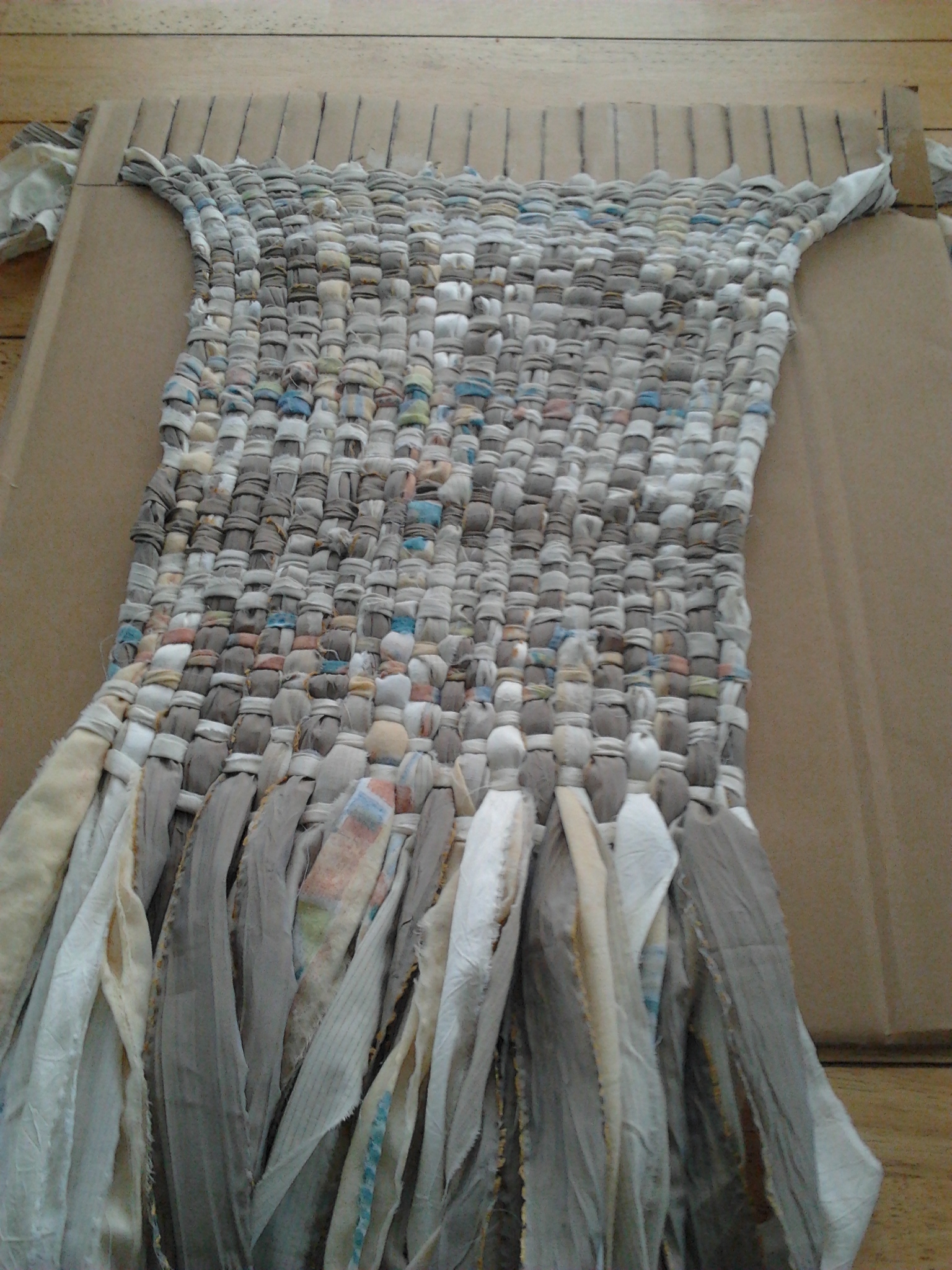 Reduce Reuse Recycle Folded Paperbacks And A Rag Rug